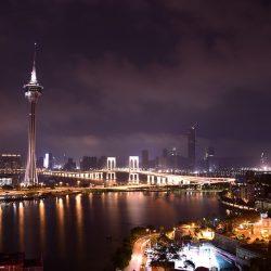 Vue de Macao la nuit